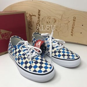 VANS Authentic Pro Checkerboard Classic White Blue